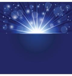 blue ray background vector image