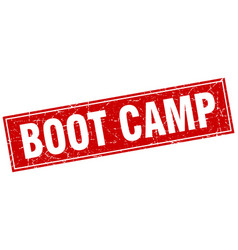 Boot camp square stamp vector