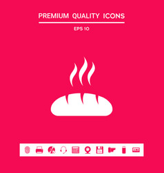 bread symbol icon graphic elements for your vector image