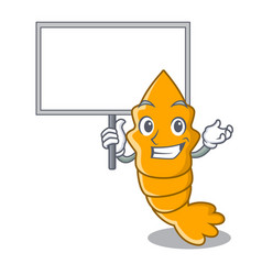 Bring board shrimps on a character cartoon style vector