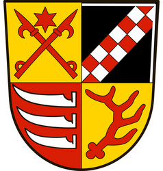 Coat of arms of oder-spree in brandenburg germany vector