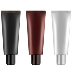 cosmetic tube for eye cream gel or essence 3d re vector image