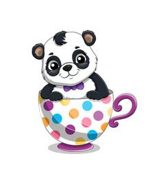 Cute adorable baby panda vector