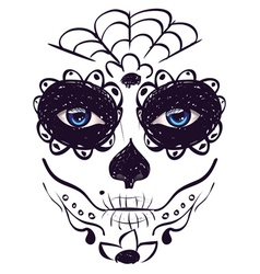Day of Dead Girl Face8 vector image