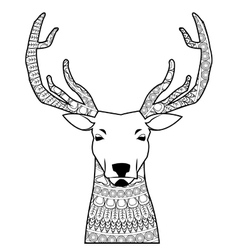 deer mandala icon vector image