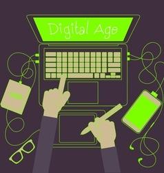 Digital working vector image