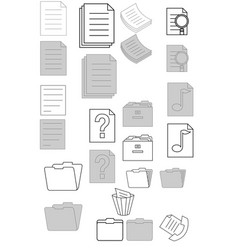 document-icons vector image