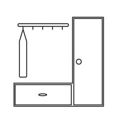 dress hanger cupboard icon vector image