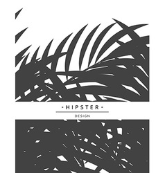 Exotic background with gray palm leave for design vector image