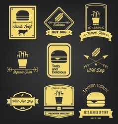 Fast Food Vintage Label vector image
