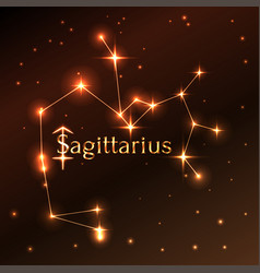 fire symbol of sagittarius zodiac sign horoscope vector image