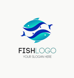 fish logotype vector image