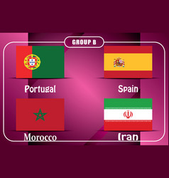 Football championship flags group b vector