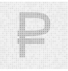 Gray abstract grid rouble symbol vector