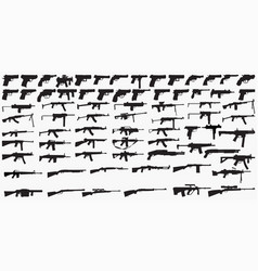 guns silhouettes vector image