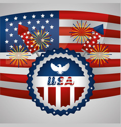 Happy independence day american vector