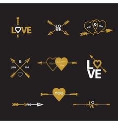 happy valentines day arrow vector image