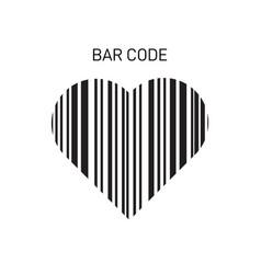 hear bar code shape scanning bar code vector image