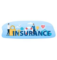 Insurance abstract concept vector
