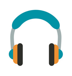 Isolated headphones icon image vector