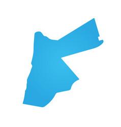 Jordan blue map isolated on white background vector