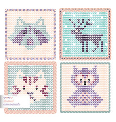 Knitted animals vector