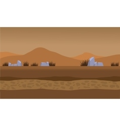 Landscape fields and mountain for backgrounds game vector