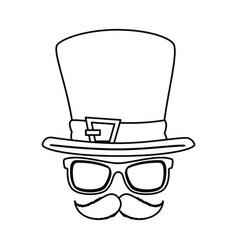 leprechaun costume accessories icons vector image