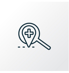 local search icon line symbol premium quality vector image