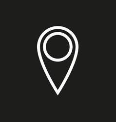 location icon on black background vector image