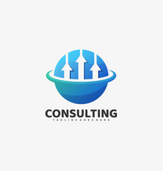 Logo consulting gradient colorful style vector