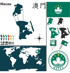 Macau map vector
