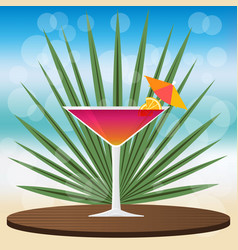 manhattan cocktail vector image