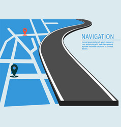 map location banner vector image