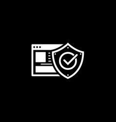 online protection icon flat design vector image