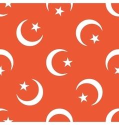 Orange Turkey symbol pattern vector image