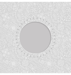 Ornamental lace frame circle background with many vector