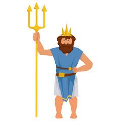 Poseidon or neptune greek or roman ancient god vector