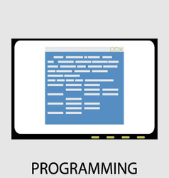 Programming icon flat design vector image