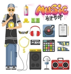 Rap hiphop vector