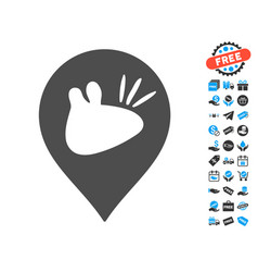rats marker icon with free bonus vector image