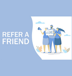 refer a friend concept for web banner vector image