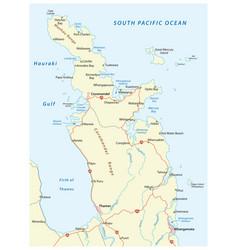 road map coromandel peninsula new zealand vector image
