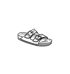 Sandal hand drawn outline doodle icon vector