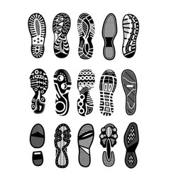 shoe sole icon set isolated on white background vector image