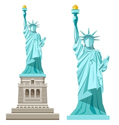 Statue of liberty of america vector image