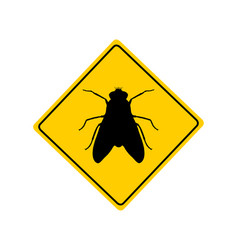 Traffic sign for flies on white vector