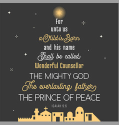 Typography of bible verse from chronicles vector