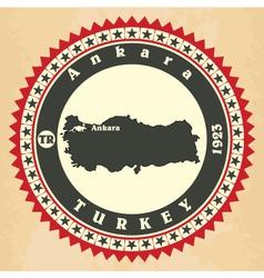 Vintage label-sticker cards turkey vector