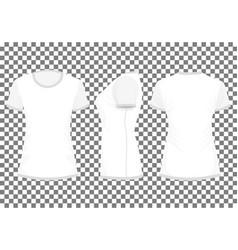 Whitelight gray womans t-shirt vector